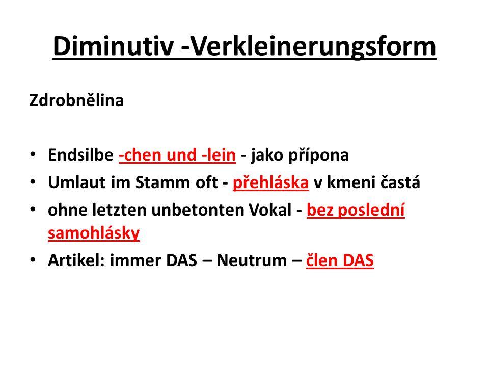 Diminutiv -Verkleinerungsform