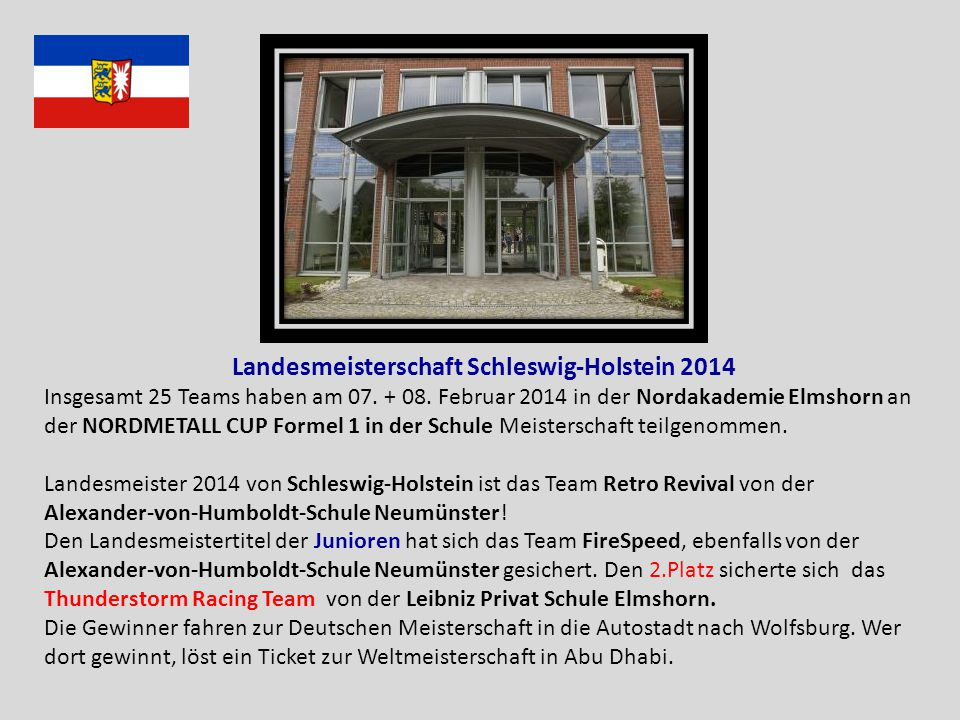 Landesmeisterschaft Schleswig-Holstein 2014