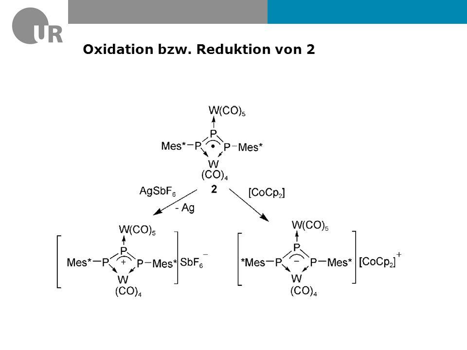 Oxidation bzw. Reduktion von 2