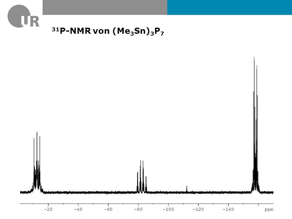 31P-NMR von (Me3Sn)3P7