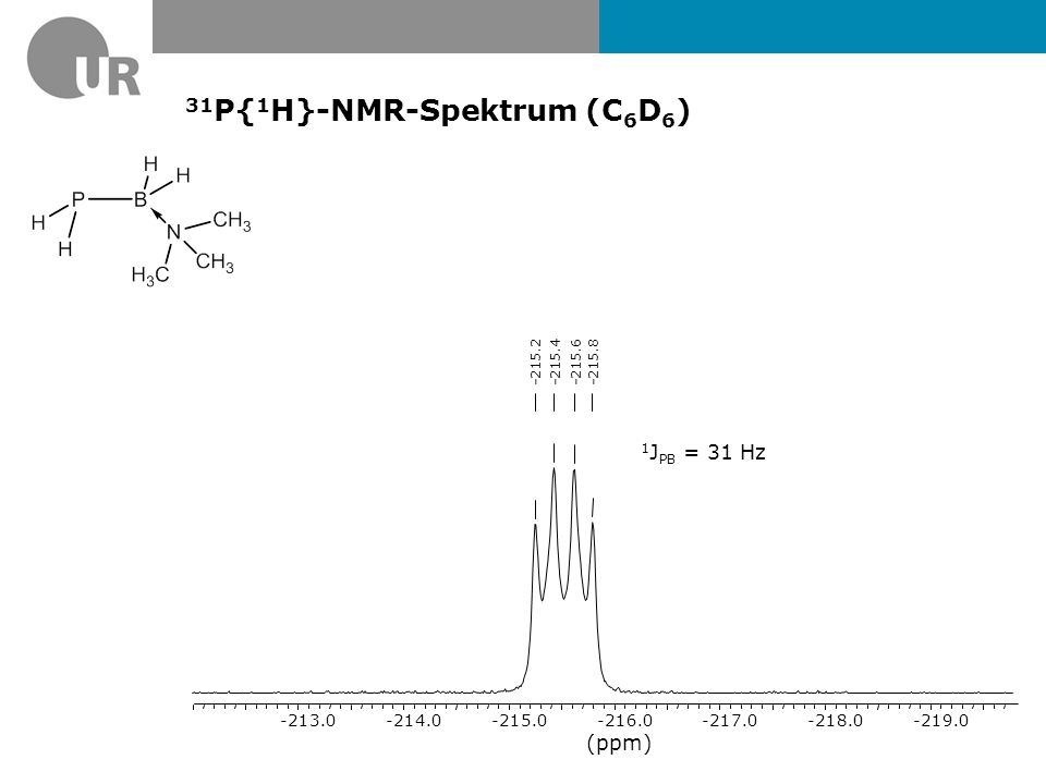 31P{1H}-NMR-Spektrum (C6D6)