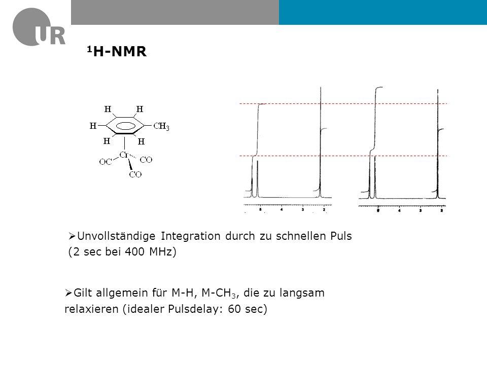 1H-NMR Unvollständige Integration durch zu schnellen Puls