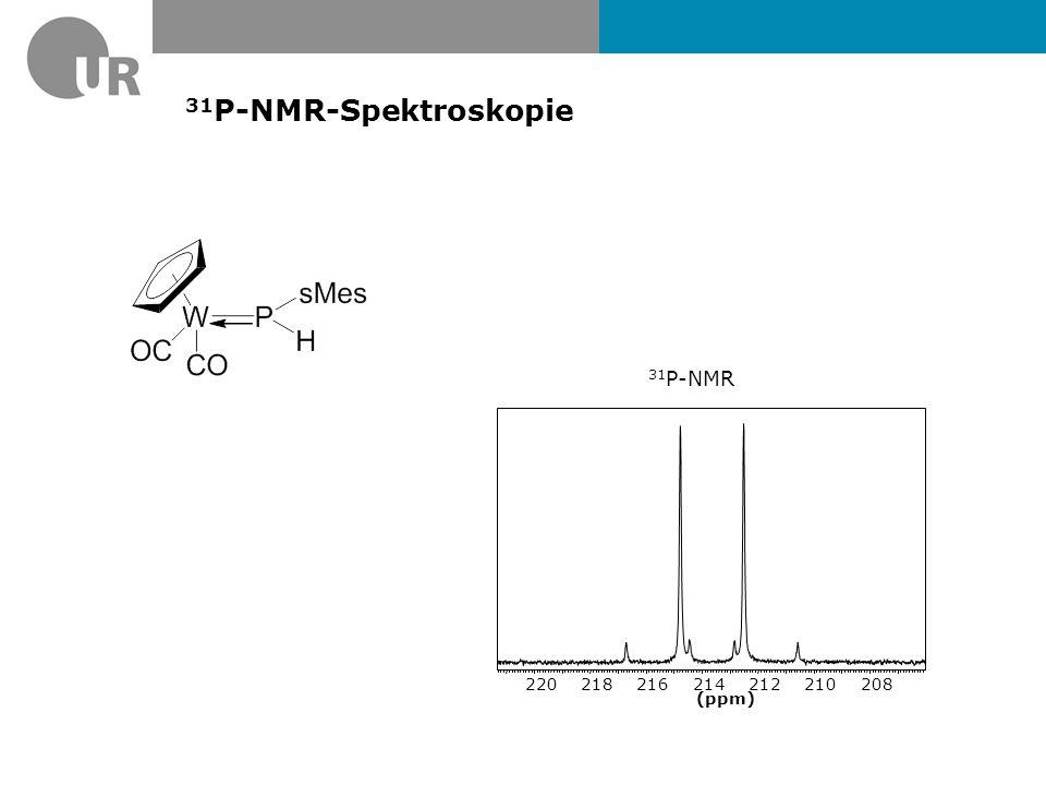 31P-NMR-Spektroskopie 31P-NMR (ppm) 208 210 212 214 216 218 220