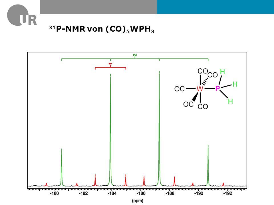 31P-NMR von (CO)5WPH3