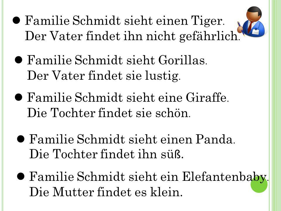  Familie Schmidt sieht einen Tiger.