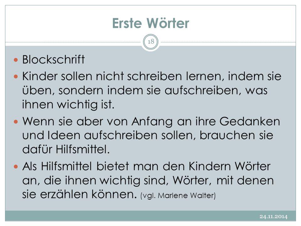 Erste Wörter Blockschrift