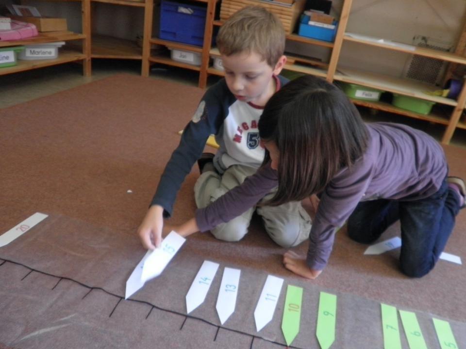 Wechsel der Arbeitsgruppen – Kooperation soll möglichst gefördert werden, Die K arbeiten häufig mit K einer anderen Schulstufe zusammen