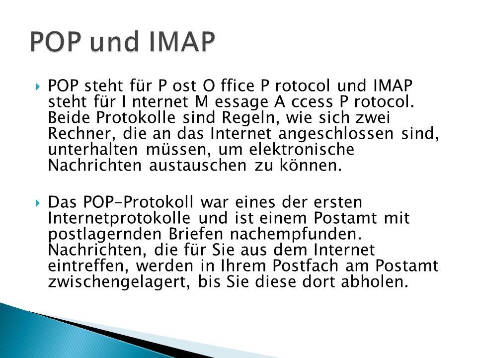 POP und IMAP