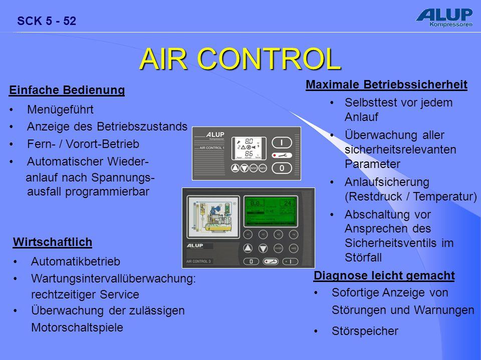 AIR CONTROL Maximale Betriebssicherheit Einfache Bedienung