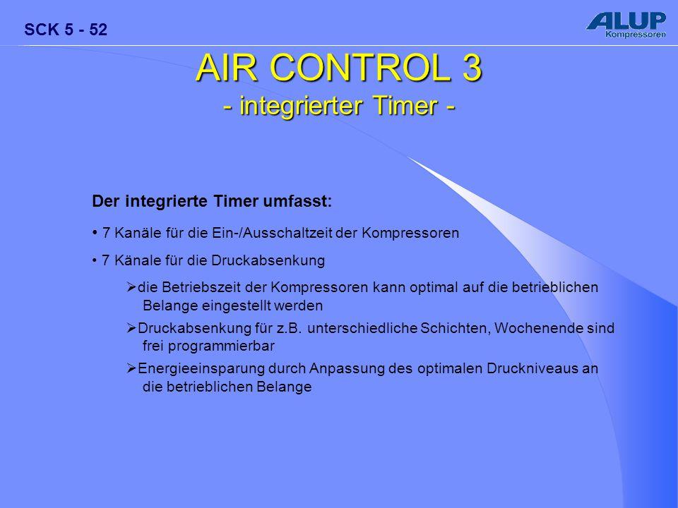 AIR CONTROL 3 - integrierter Timer - Der integrierte Timer umfasst: