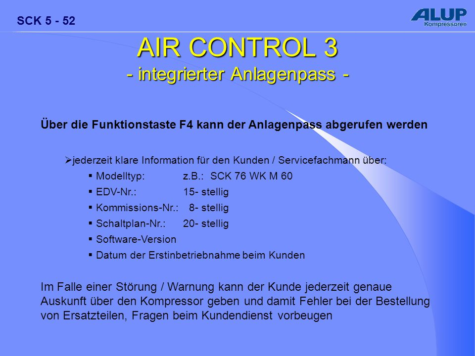 - integrierter Anlagenpass -