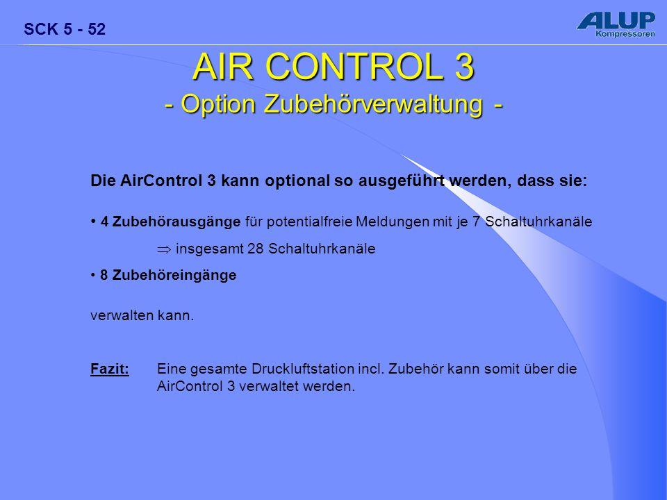 - Option Zubehörverwaltung -