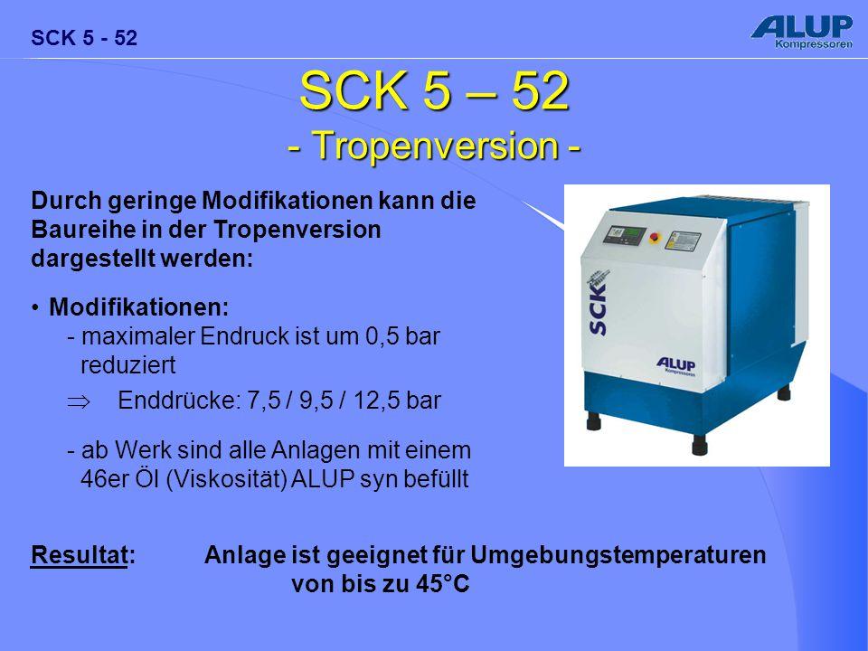 SCK 5 – 52 - Tropenversion - Durch geringe Modifikationen kann die