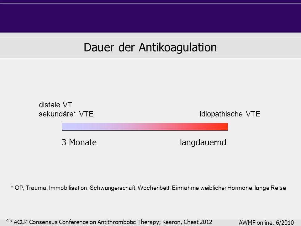 Dauer der Antikoagulation