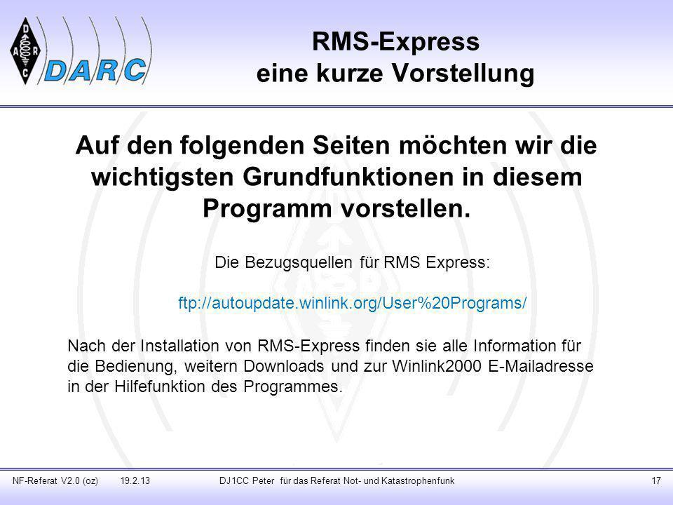 RMS-Express eine kurze Vorstellung