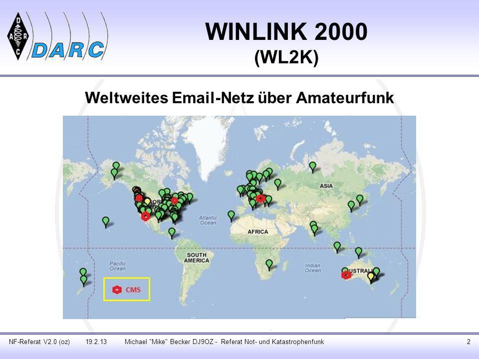 Weltweites Email-Netz über Amateurfunk