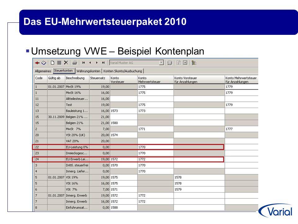 Das EU-Mehrwertsteuerpaket 2010