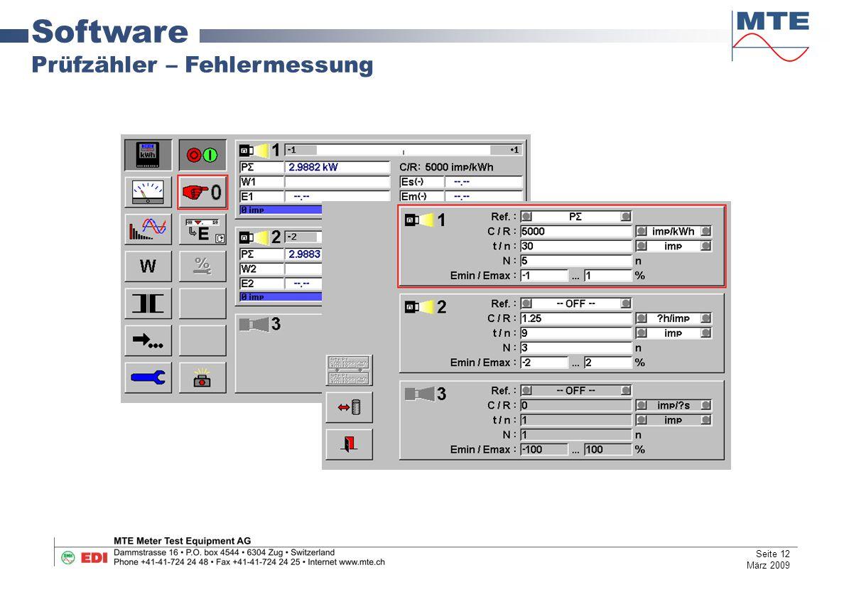 Software Prüfzähler – Fehlermessung