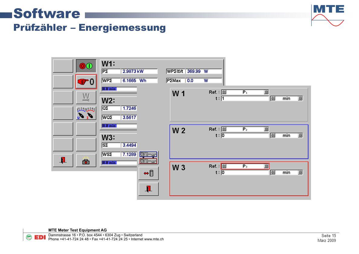 Software Prüfzähler – Energiemessung