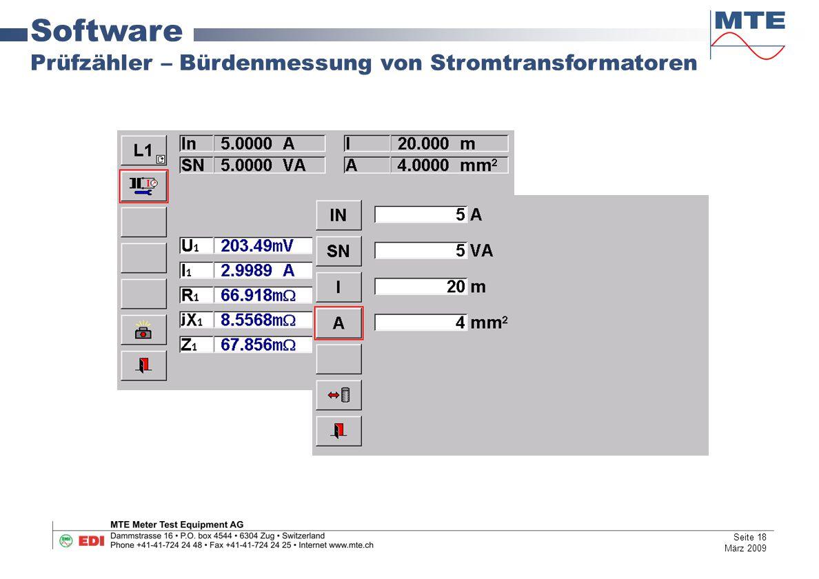 Software Prüfzähler – Bürdenmessung von Stromtransformatoren