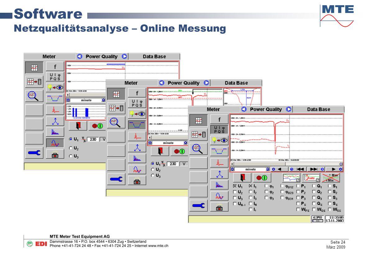 Software Netzqualitätsanalyse – Online Messung