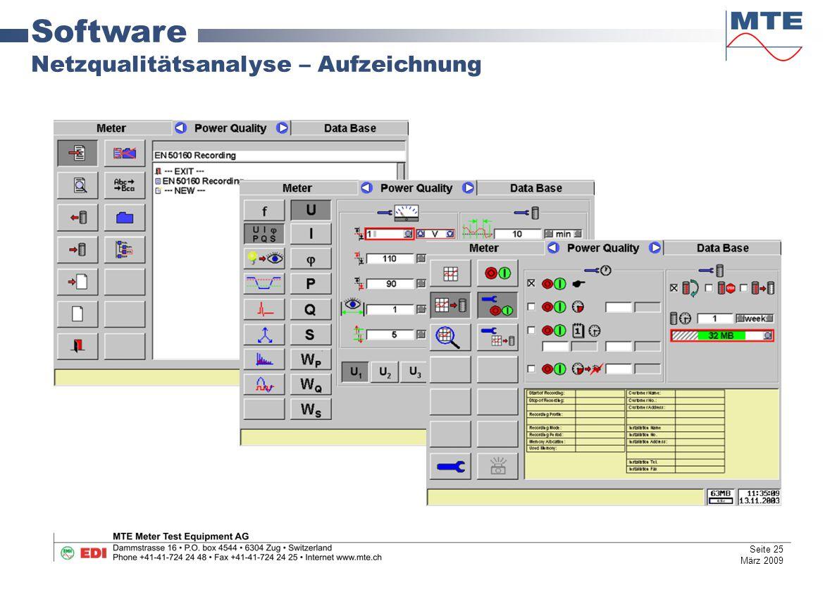 Software Netzqualitätsanalyse – Aufzeichnung