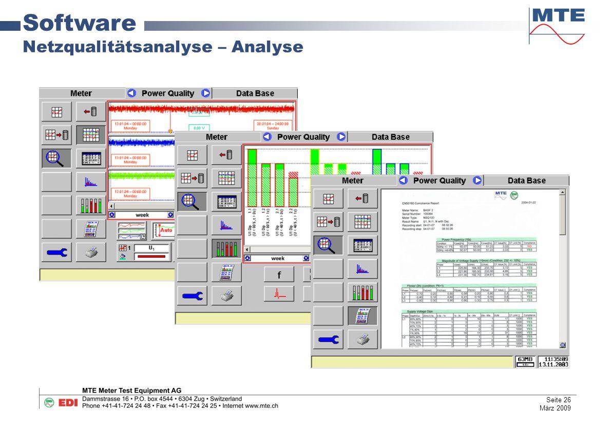 Software Netzqualitätsanalyse – Analyse