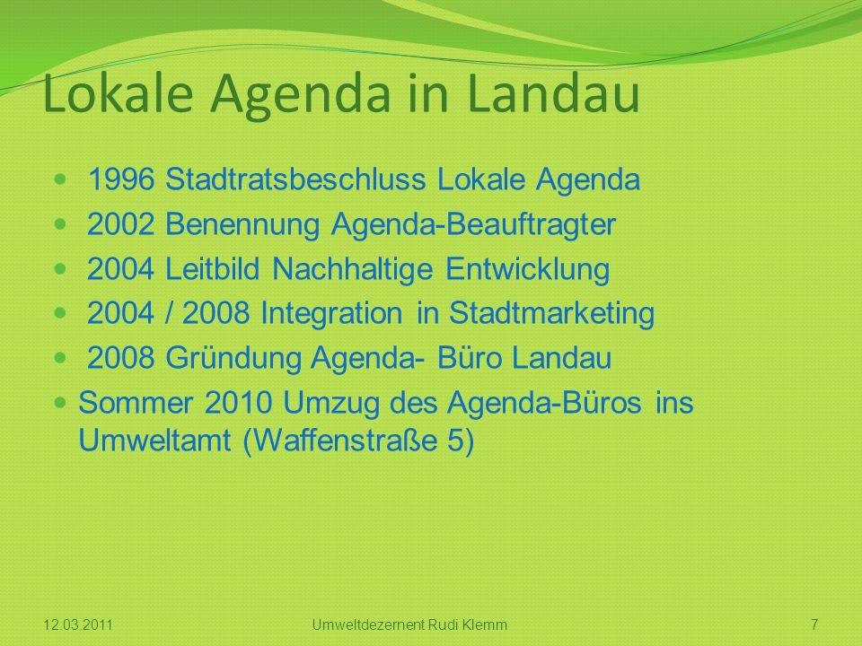 Lokale Agenda in Landau