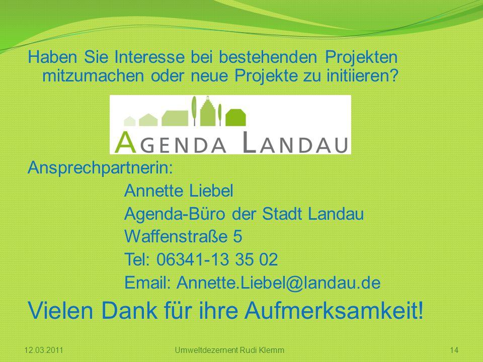 Umweltdezernent Rudi Klemm