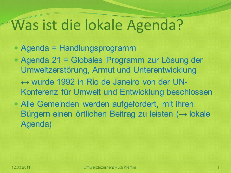 Was ist die lokale Agenda