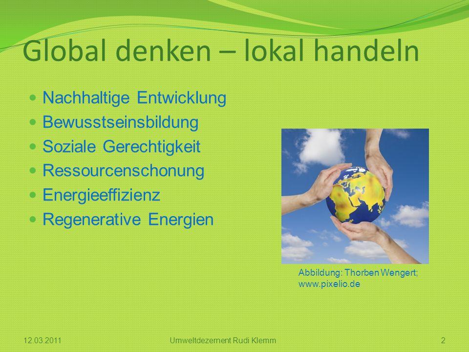 Global denken – lokal handeln