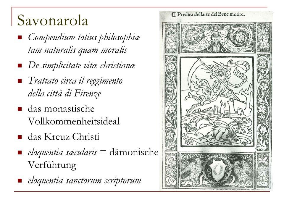Savonarola Compendium totius philosophiæ tam naturalis quam moralis