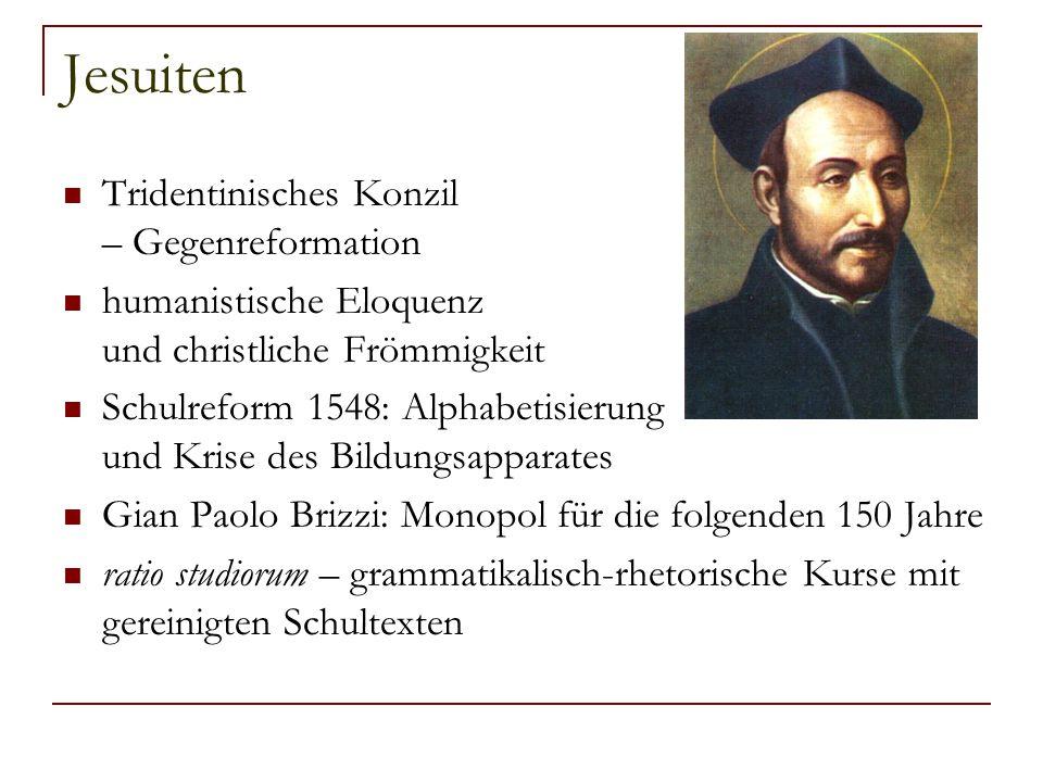 Jesuiten Tridentinisches Konzil – Gegenreformation