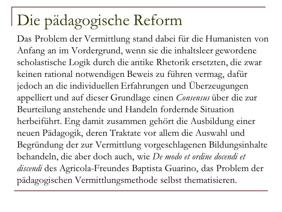 Die pädagogische Reform