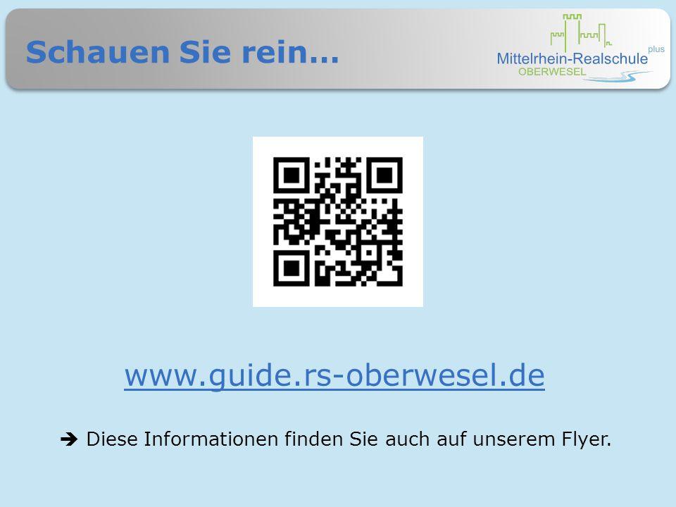 Schauen Sie rein… www.guide.rs-oberwesel.de