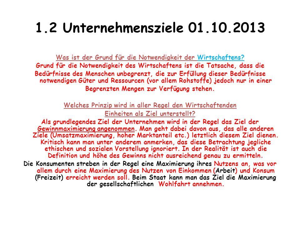 1.2 Unternehmensziele 01.10.2013