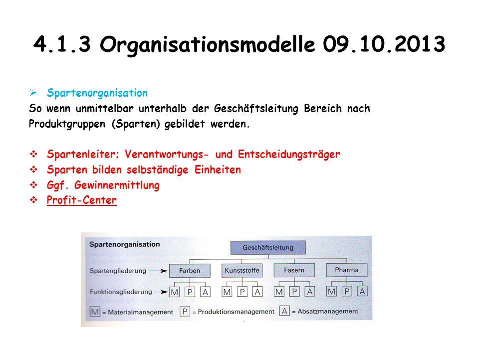 4.1.3 Organisationsmodelle 09.10.2013
