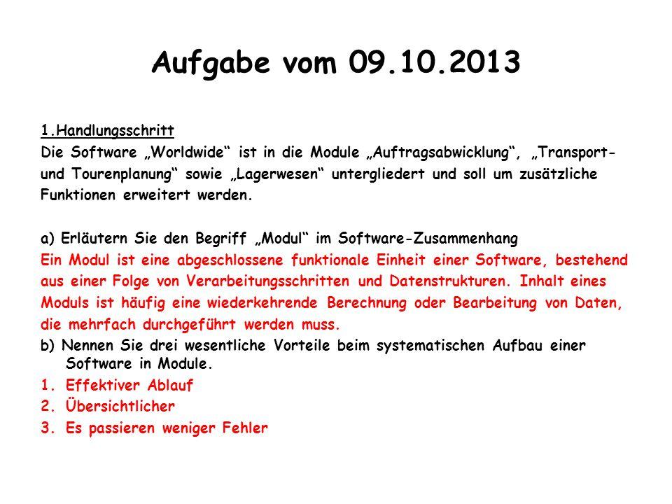 Aufgabe vom 09.10.2013 1.Handlungsschritt