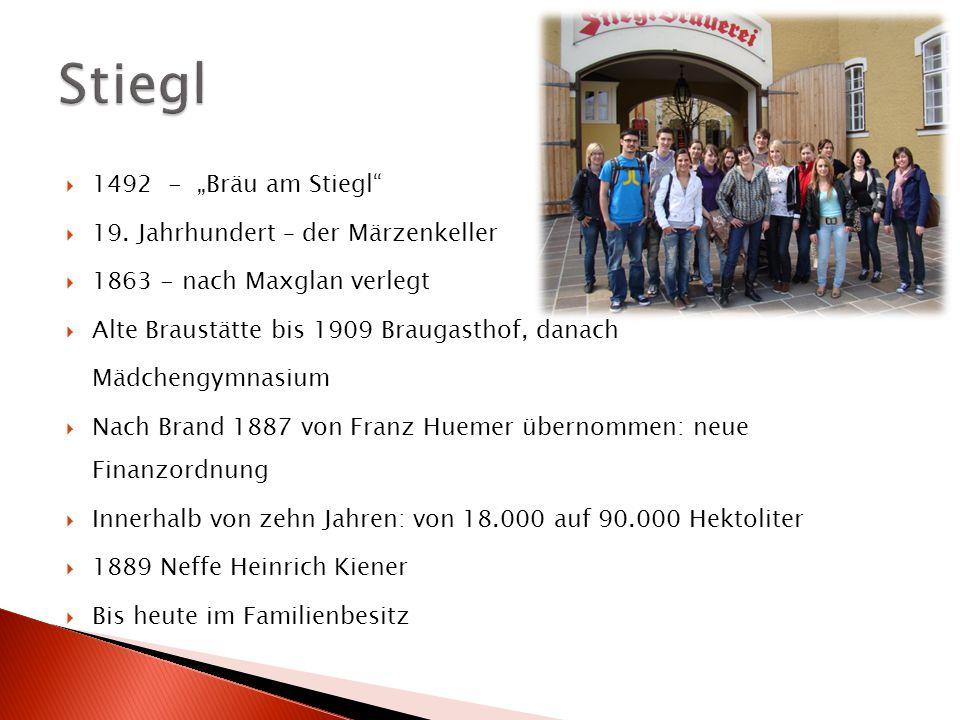 """Stiegl 1492 - """"Bräu am Stiegl 19. Jahrhundert – der Märzenkeller"""