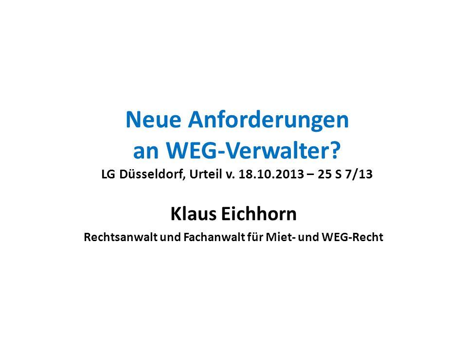 Klaus Eichhorn Rechtsanwalt und Fachanwalt für Miet- und WEG-Recht