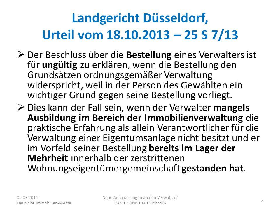 Landgericht Düsseldorf, Urteil vom 18.10.2013 – 25 S 7/13