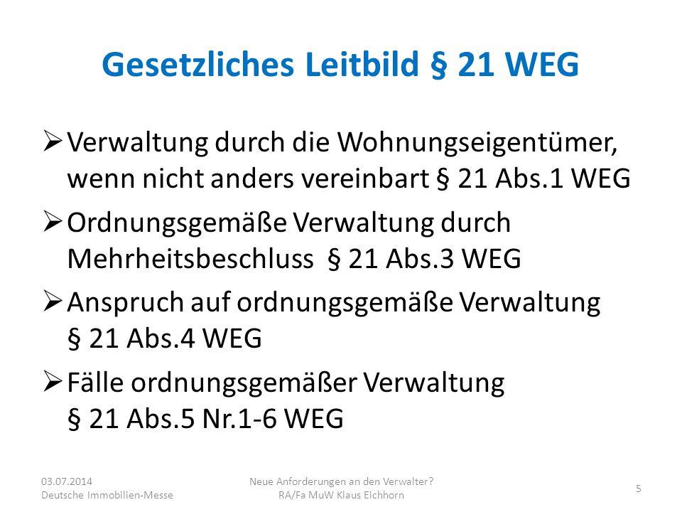 Gesetzliches Leitbild § 21 WEG