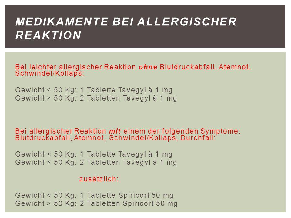 Medikamente bei allergischer Reaktion