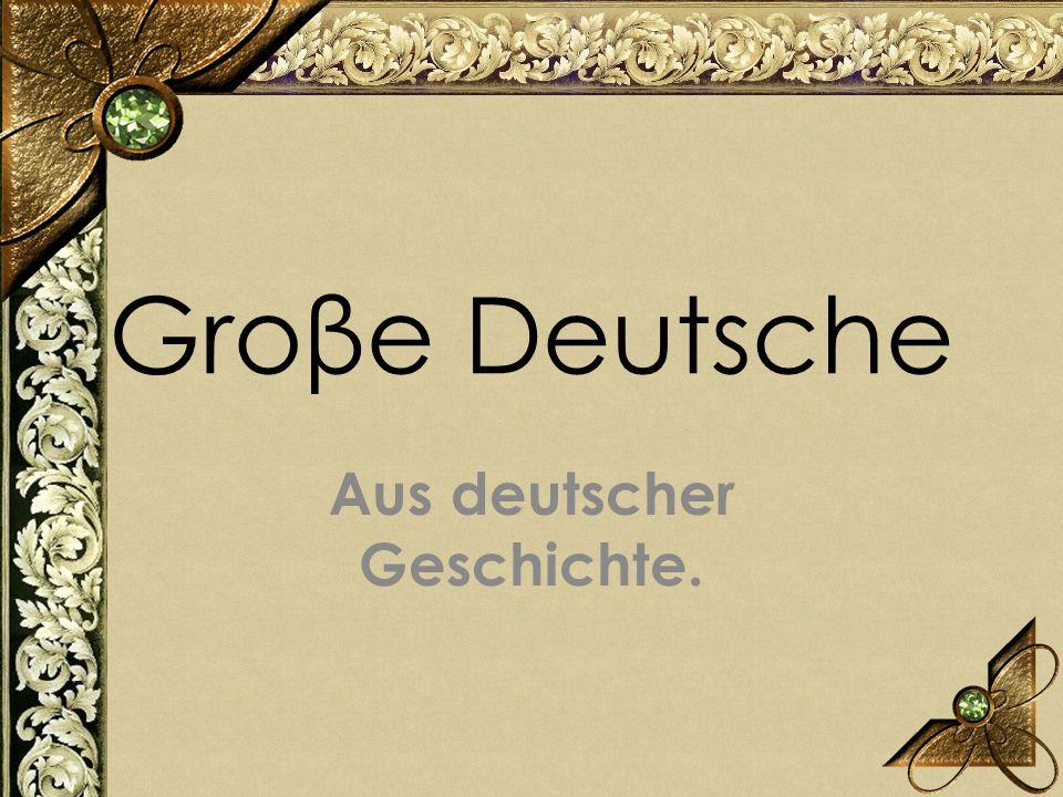 Aus deutscher Geschichte.