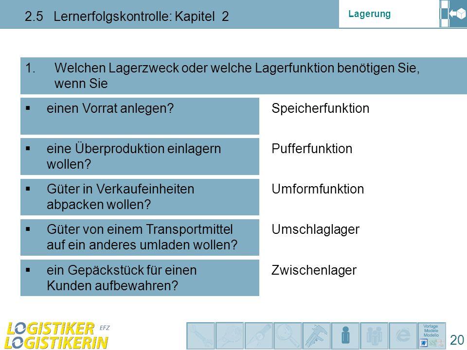 2.5 Lernerfolgskontrolle: Kapitel 2