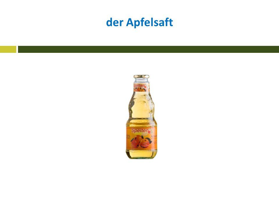 der Apfelsaft
