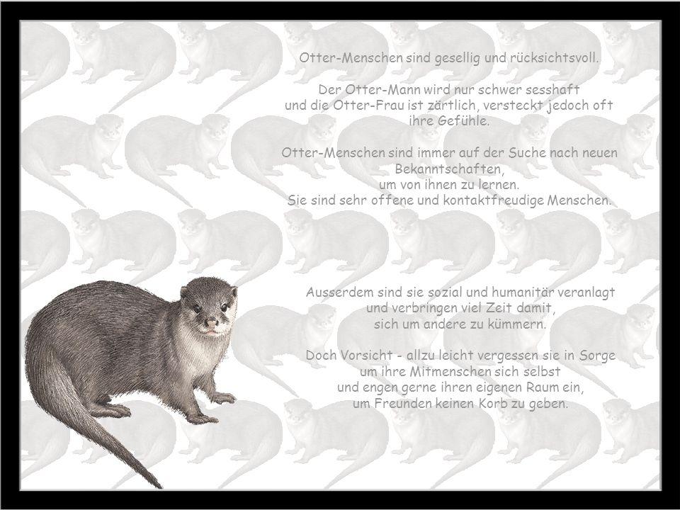 Otter-Menschen sind gesellig und rücksichtsvoll.
