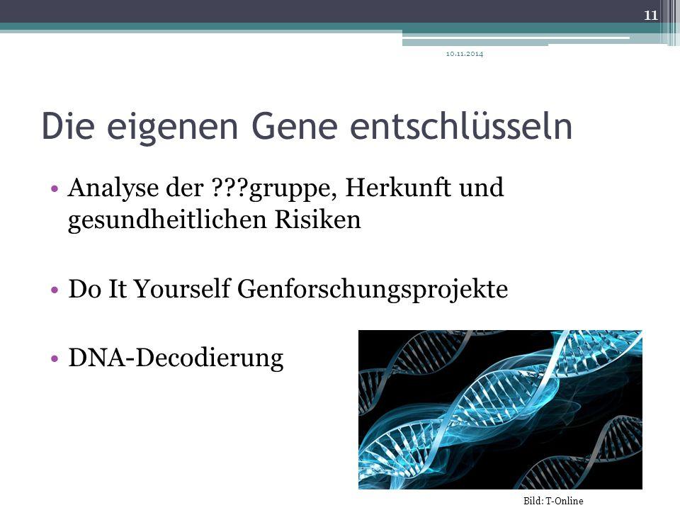 Die eigenen Gene entschlüsseln