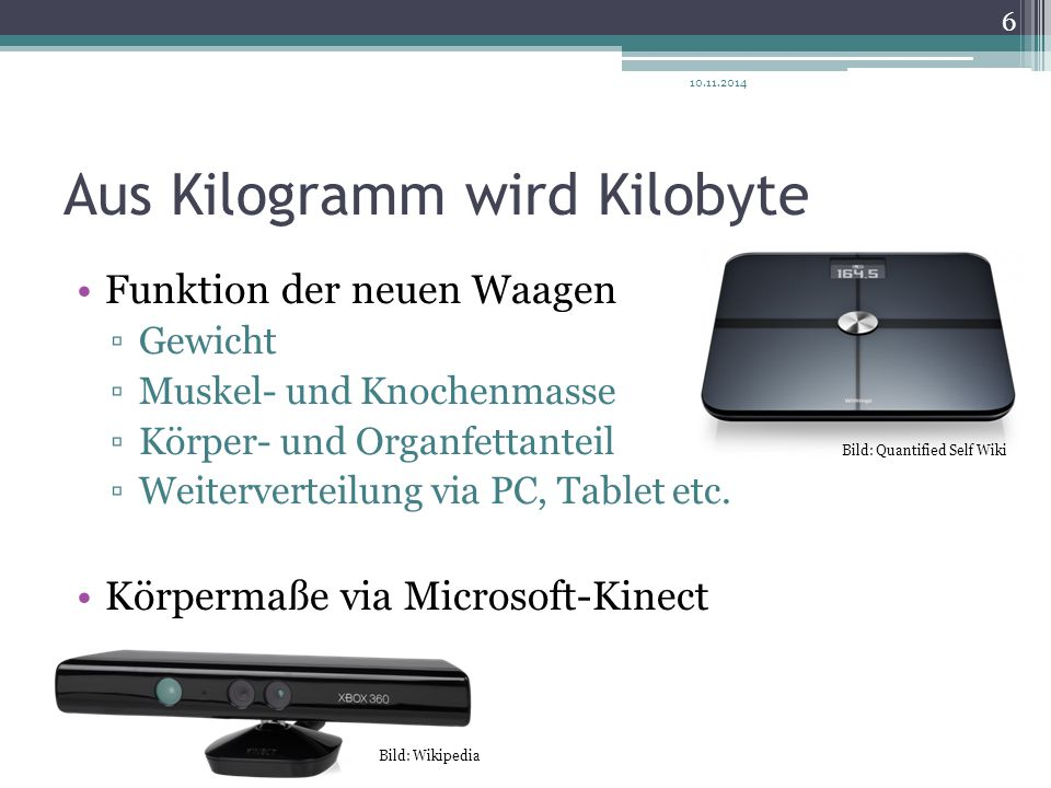Aus Kilogramm wird Kilobyte