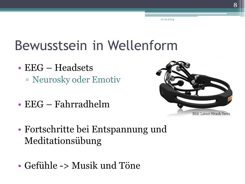 Bewusstsein in Wellenform